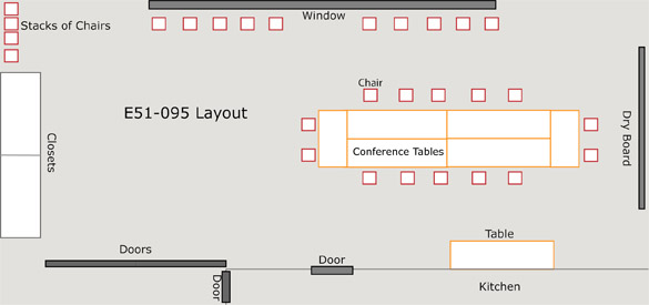 MIT SHASS Deans Conference Rooms - Conference table layout