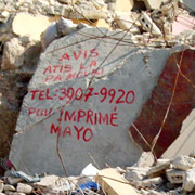 rubble of Haitian earthquake