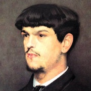 Claude Debussy, detail, painting by Marcel Baschet