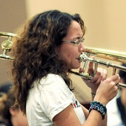 MIT Jazz Ensemble, Olivia Bishop on trombone