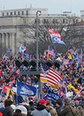 view of the crowd on the Mall, 6 January 2021
