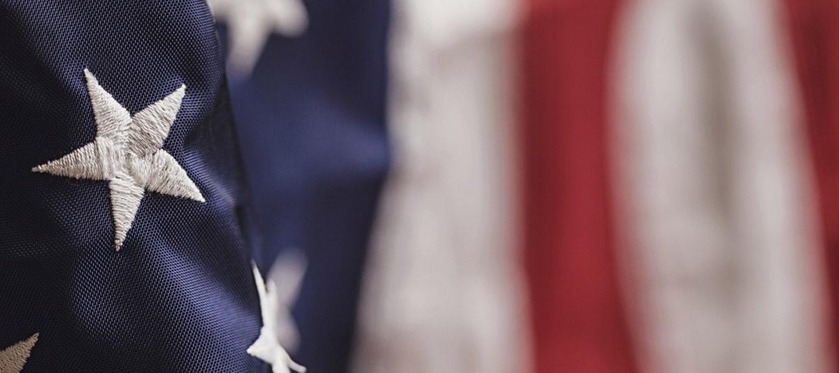 detail, American flag
