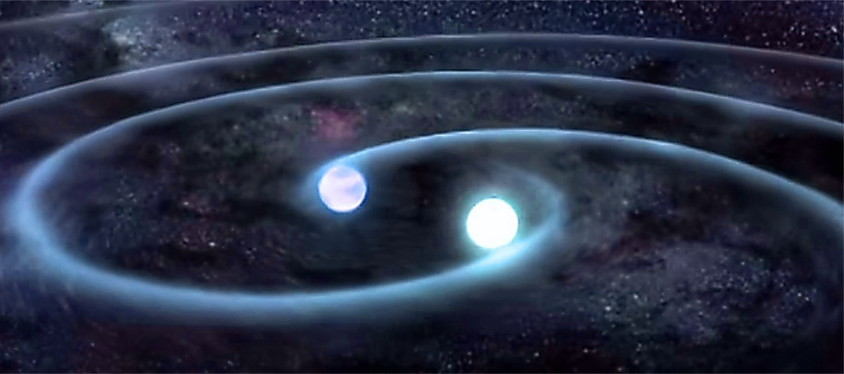 Artist rendering of gravitation waves