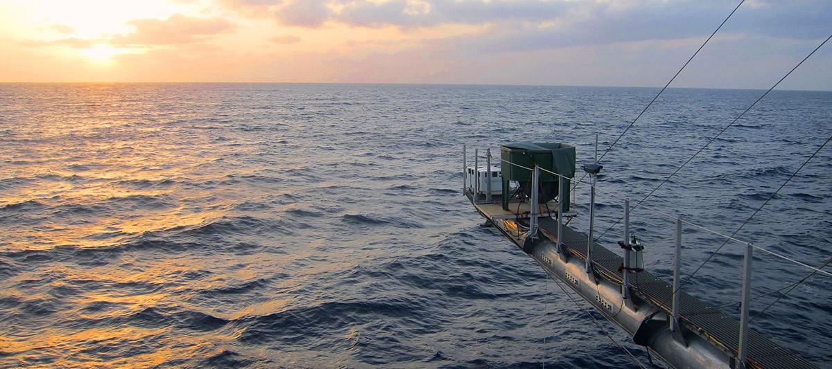 Sunset aboard the Floating Instrumentation Platform