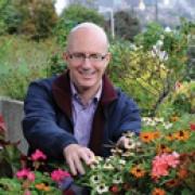 Charles Stewart in garden