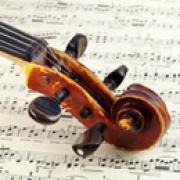 violin on score