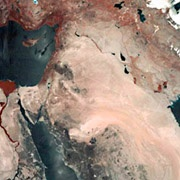 photo of the middle east from satellite