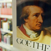 Goethe on a poster