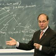 Joseph Aoun at chalkboard