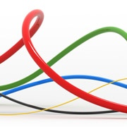 colorful communication cables