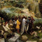 detail, Tower of Babel, Pieter Bruegel the Elder