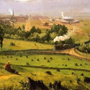 detail, George Inness painting, The Lakawanna Valley