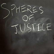 spheres of justice - chalk on blackboard