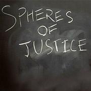 spheres of justice - chalk on blackboard