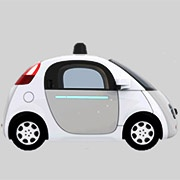 icon of self driving car