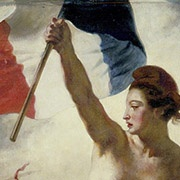 Detail, Delacroix painting, Liberty guiding the people