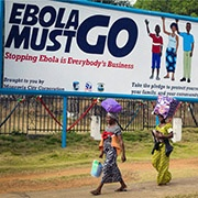 Liberia billboard about Ebola