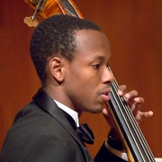 Young man in the MIT Orchestra