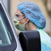 nurse testing for covid-19