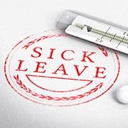 sick leave emblem