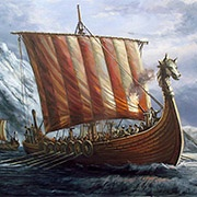 illustration of a Norse Viking ship