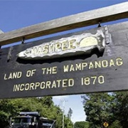 Sign: Land of the Wanpanoag