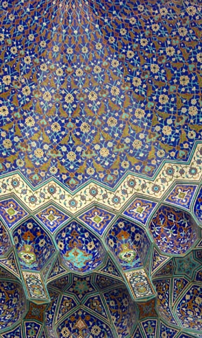Detail, the Imam mosque Esfahan