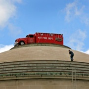 """firetruck"" on top of MIT dome, prank"